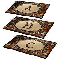 Monogram Harvest Leaf Doormats