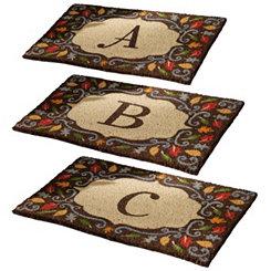 Monogram Harvest Leaf Doormats