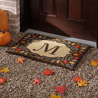 Monogram M Harvest Leaf Doormat