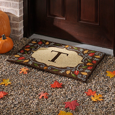 Monogram T Harvest Leaf Doormat