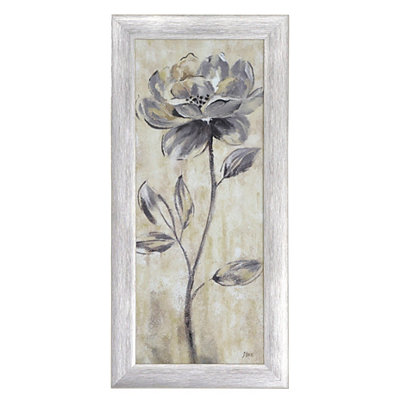Gray Botanical Elegance I Framed Art Print