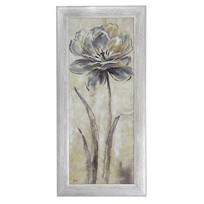 Gray Botanical Elegance II Framed Art Print