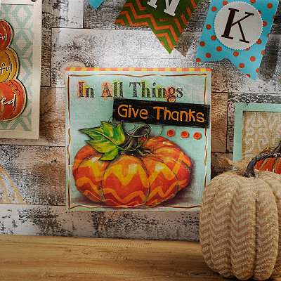 Give Thanks Embellished Wooden Sign