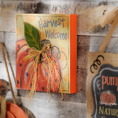 Harvest Welcome Embellished Wooden Sign