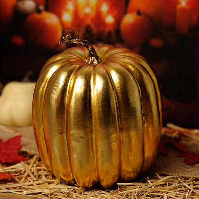 Metallic Gold Pumpkin