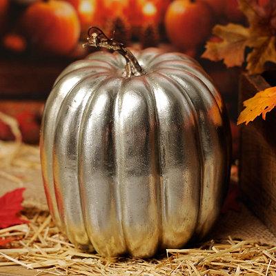 Metallic Silver Pumpkin