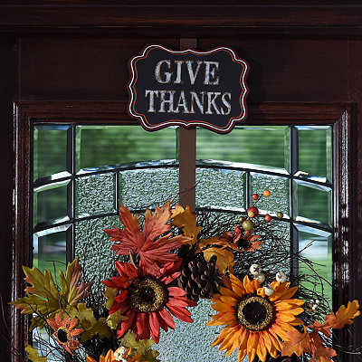 Give Thanks Wreath Hanger