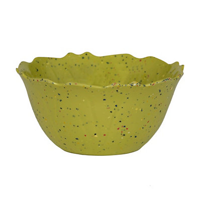Speckled Lime Melamine Bowl