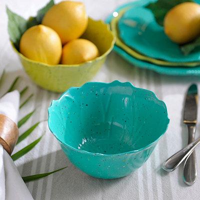 Speckled Turquoise Melamine Bowl