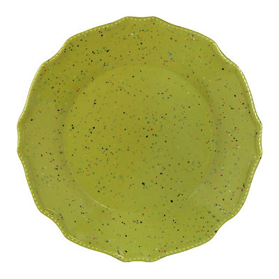 Speckled Lime Melamine Dinner Plate