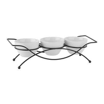 Fine Serving Bowls 4-pc. Set with Stand