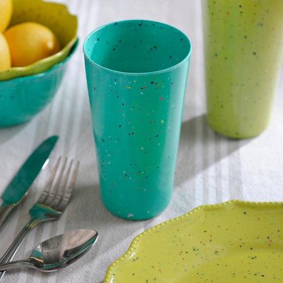 Speckled Turquoise Melamine Tumbler