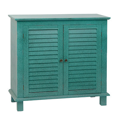 Speckled Turquoise Shutter Cabinet