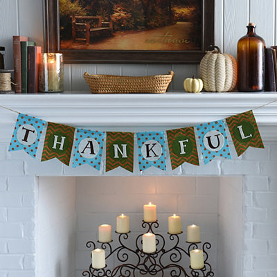 Thankful Patterned Banner