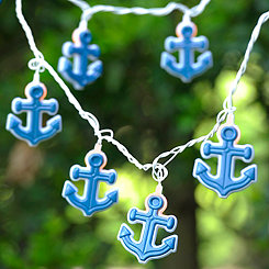 Navy Anchor String Lights