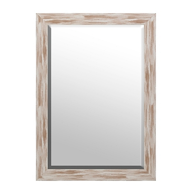 distressed white driftwood framed mirror 30x42
