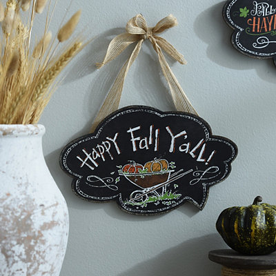 Happy Fall Y'all Chalk Art Wall Sign