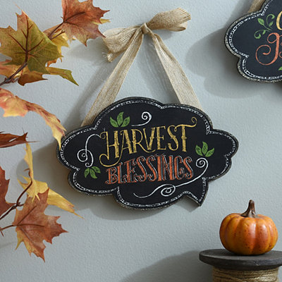 Harvest Blessings Chalk Art Wall Sign