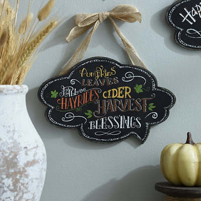 Fall Favorites Chalk Art Wall Sign