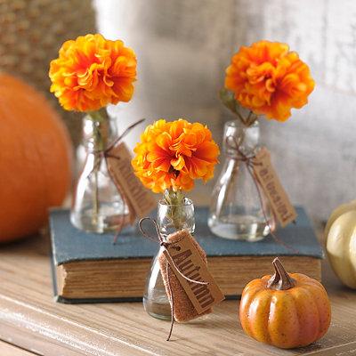 Single Orange Blossom Arrangement, Set of 3
