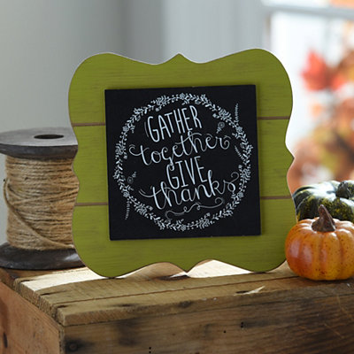Gather Together Chalk Art Easel Plaque