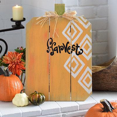 Harvest Pumpkin Wood Easel
