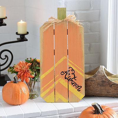 Autumn Pumpkin Wood Easel