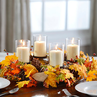 Harvest Leaf and Berry Centerpiece