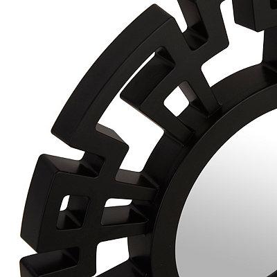 Black Greek Key Mirrors, Set of 3