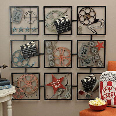 Cinema Reels Metal Plaque