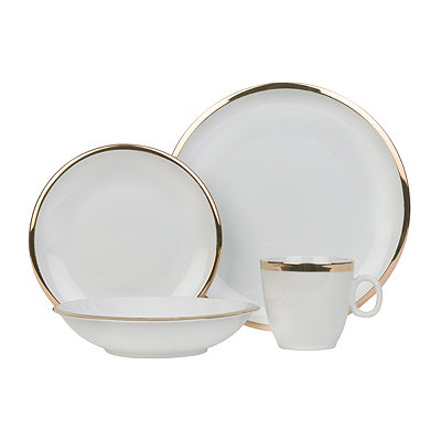 Gold Band Skyline 16-piece Dinnerware Set