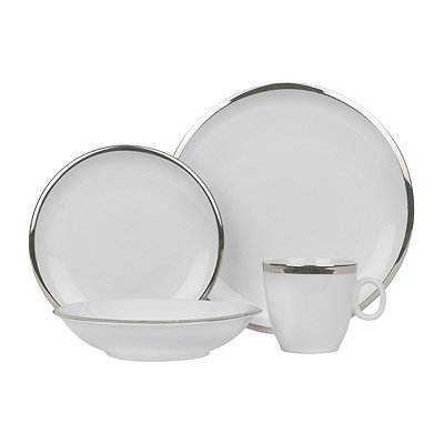 Silver Band Skyline 16-piece Dinnerware Set