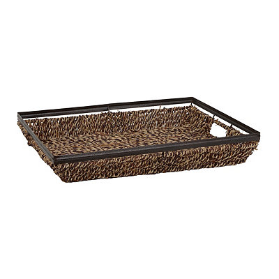 Seagrass and Metal Tray