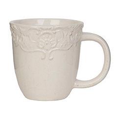 Antique Ivory Baroque Mug