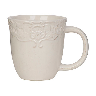 Antique Ivory Baroque Mug