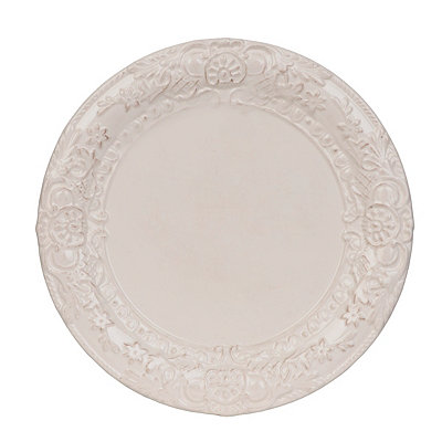 Antique Ivory Baroque Salad Plate