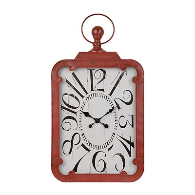 Margie Distressed Red Wall Clock