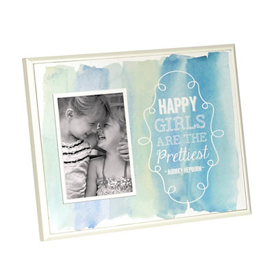 Happy Girls are the Prettiest Picture Frame, 5x7