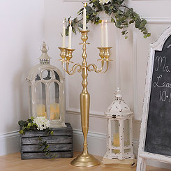 Metallic Gold Large Candelabra