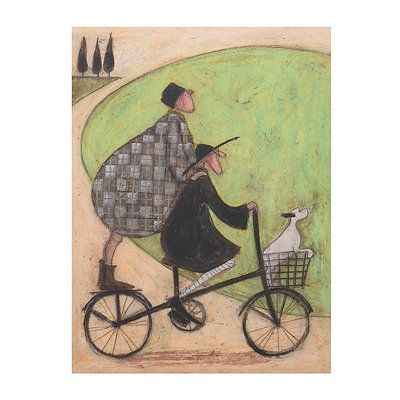 Biking Through the Country Canvas Art Print