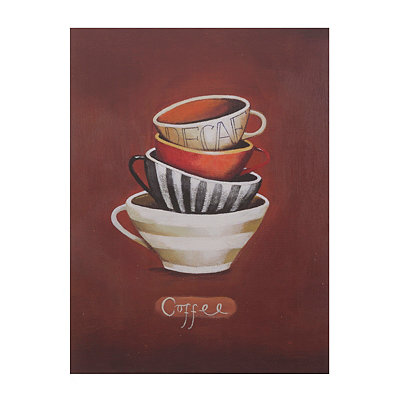 Decaf Coffee Mugs Canvas Art Print