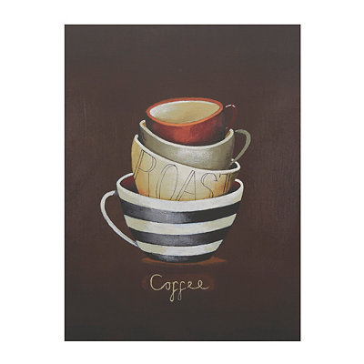 Roast Coffee Mugs Canvas Art Print