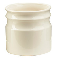 Turino White Ceramic Utensil Holder