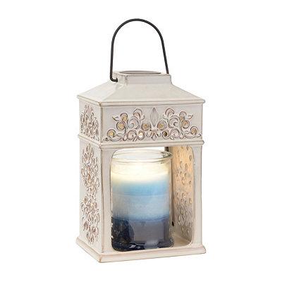 Ceramic Fleur-de-lis Lantern Candle Warmer