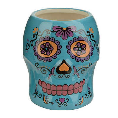 Blue Day of the Dead Skull Mug