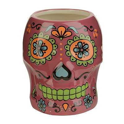 Pink Day of the Dead Skull Mug