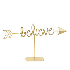 Golden Believe Arrow Finial