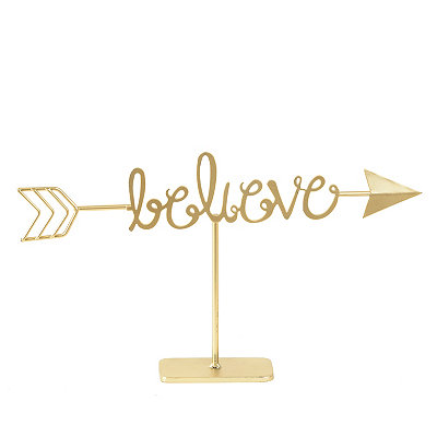 Golden Believe Arrow Finial