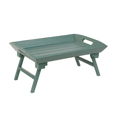 Distressed Turquoise Folding Tray