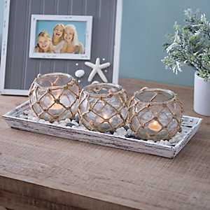 Rope and Stones Candle Runner